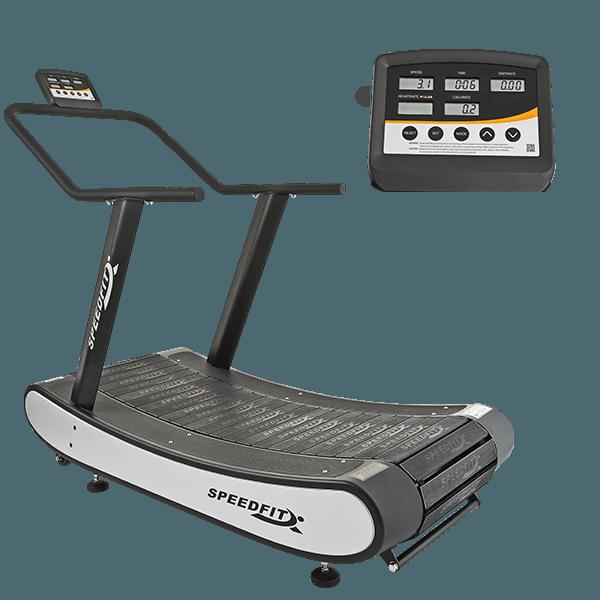 drax fitness bieznia curved speedfit widok z boku