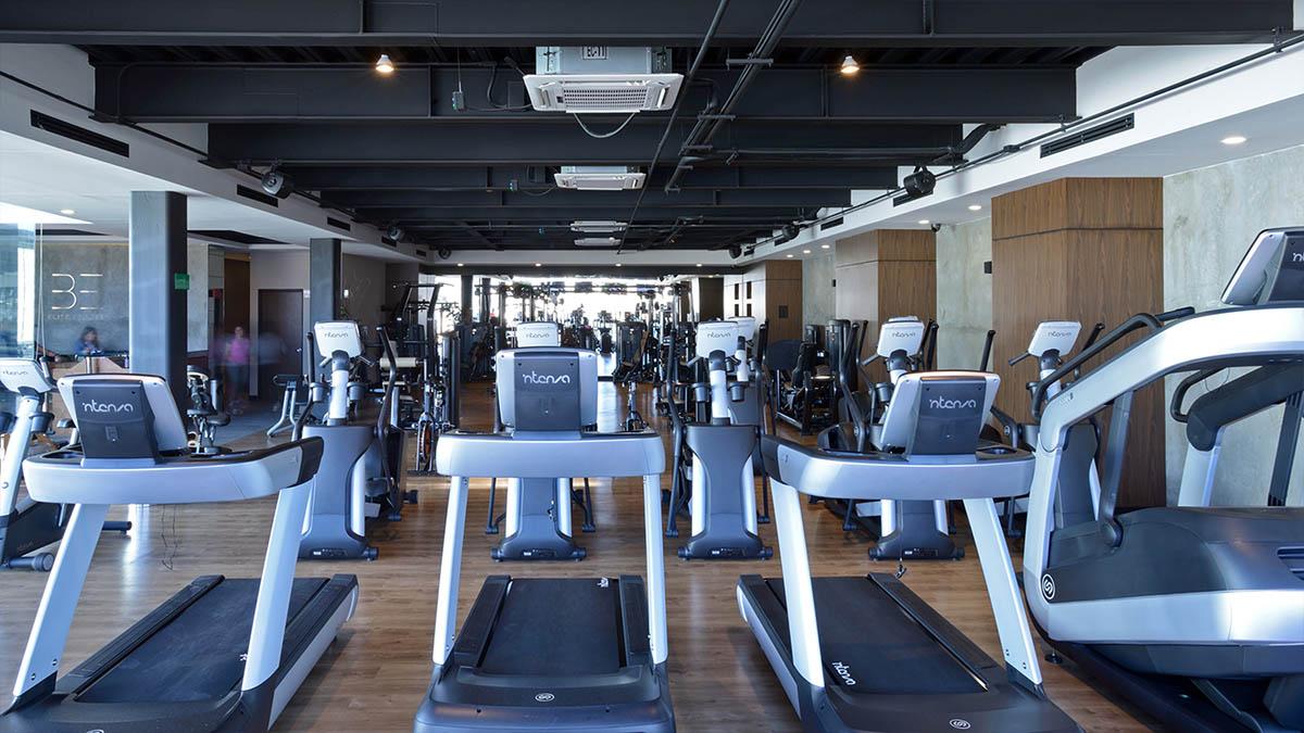 schody cardio Intenza fitness instalacja w be elite fitness