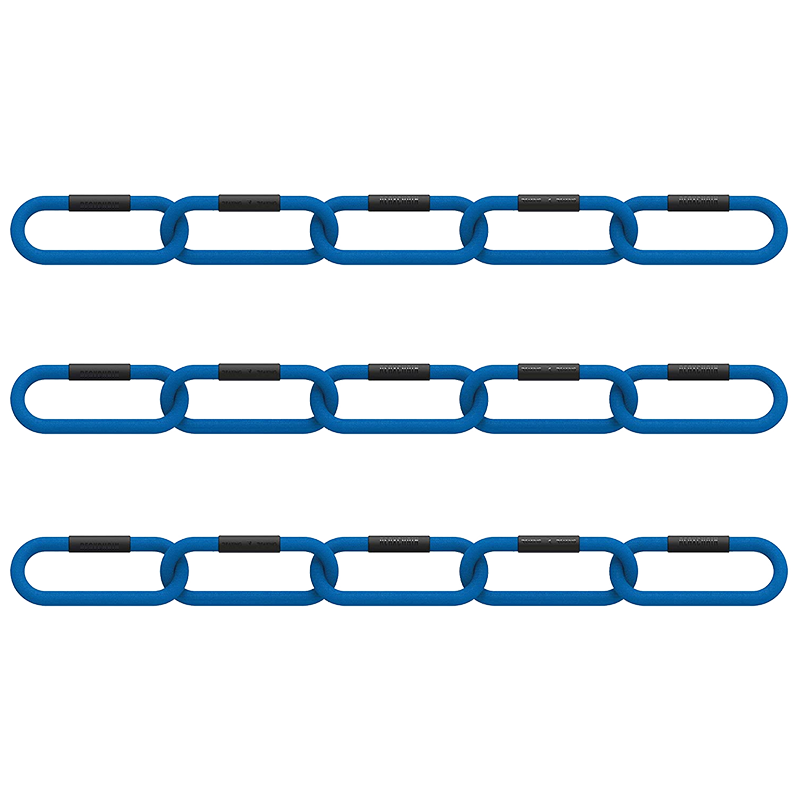 Niebieski TrojPak do klubu fitness lancuch funkcjonalny REAX CHAIN FIVE - CLUB 3 PACK - 4 KG