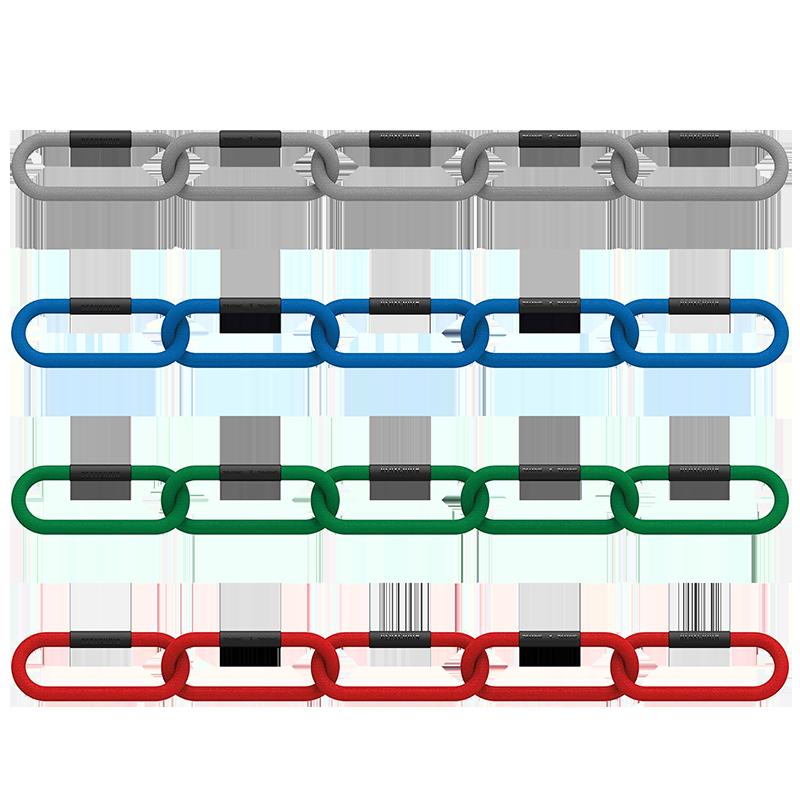 Reax Chain Five Club 4-pack - zestaw lancuchow treningowych do studia treningu lub klubu fitness