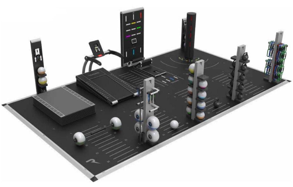 aranzacje ustawienia sprzetu fitness w strefie funkcjonalnej bieznia reax run club