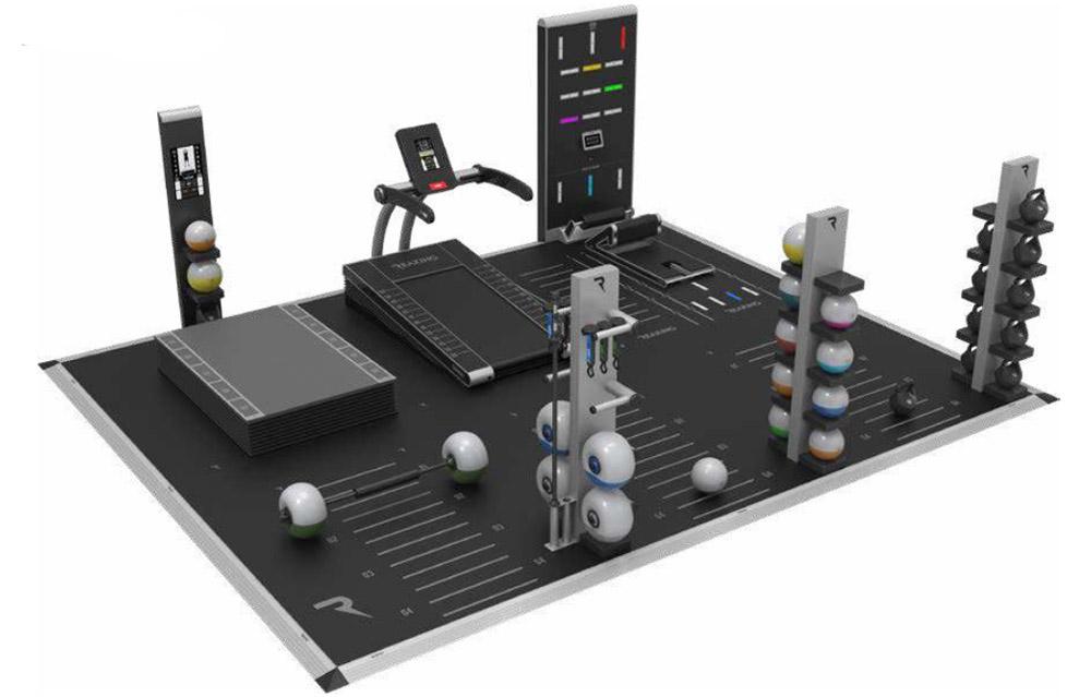 projekt malego studia treningu personalnego z bieznia elektryczna reax run club
